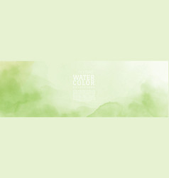 Abstract hand painted light green nature vector