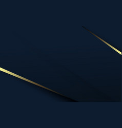 Abstract luxury gold and dark blue background vector