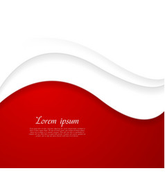 Abstract red and white wavy design vector image