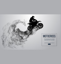 abstract silhouette a motocross rider vector image