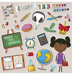 African-American school girls vector
