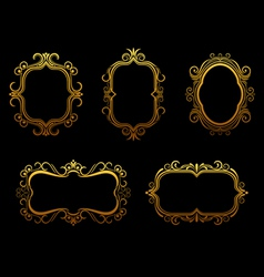 Antique golden frames vector
