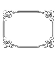 Art nouveau ornamental decorative frame vector