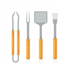 Barbecue Utensils Icons vector image
