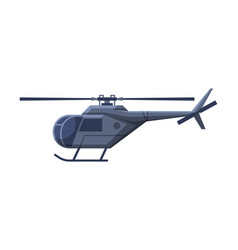 Black helicopter government vehicle luxury vector