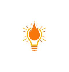 burn idea logo icon design vector image