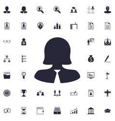 Businesswoman icon vector