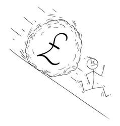 cartoon stressed man or businessman running vector image