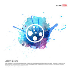 Cell icon - watercolor background vector