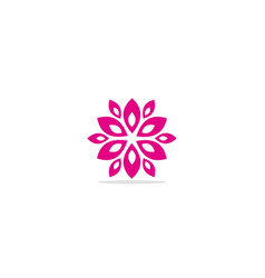 circle abstract flower geometry logo vector image