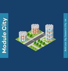 city isometric urban infrastructure vector image