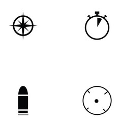 clay shooting icon set vector image