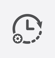 clock icon with settings sign vector image