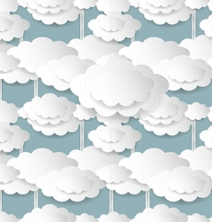 Cloudy Summer Background vector