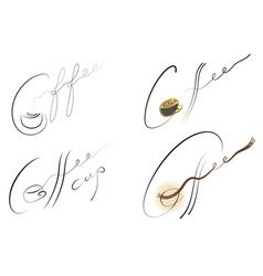 coffee handwritten sign set vector image