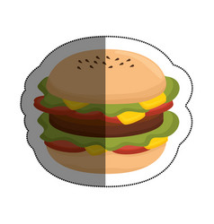 delicious burger fast food vector image