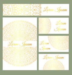 design temlates with mandala vector image