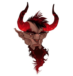 Devil face Demons portrait vector image