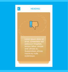 dislike mobile vertical banner design design vector image