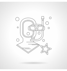 Diving helmet detailed line icon vector