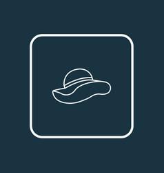 elegant headgear outline symbol premium quality vector image