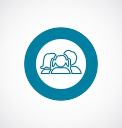 family icon bold blue circle border vector image