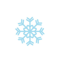 flat blue snowflake icon vector image