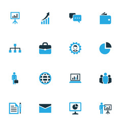 Job colorful icons set collection of growing vector