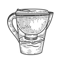 jug filter sketch vector image