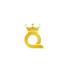 king letter q logo icon design vector image