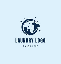 Laundry logo creative logo clean wash logo proses vector