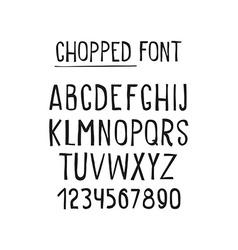 line simple chopped font universal alphabet vector image