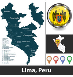 map lima peru vector image