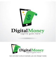 Money and phone logo template vector