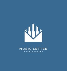 Music letter logo vector