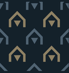 Native village seamless pattern vector