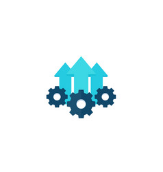 Operational excellence production growth icon vector