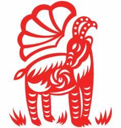 oriental goat vector image