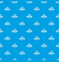power tool car pattern seamless blue vector image