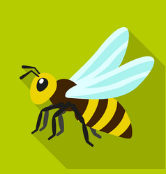 Queen bee icon flat style vector