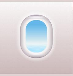realistic window airplane vector image