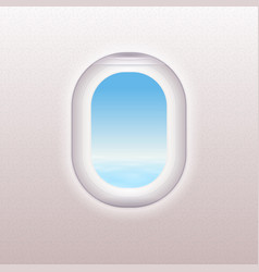 Realistic window of the airplane vector