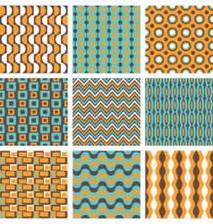 retro patterns set vector image
