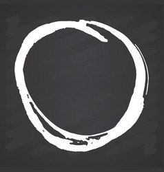 round frame grunge textured hand drawn element on vector image