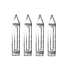 Set of pencils colored vector