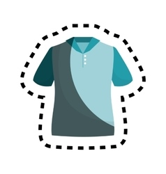 shirt silhouette isolated icon vector image