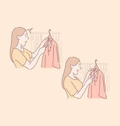 Shopping sale buyer set concept vector