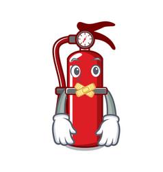 Silent fire extinguisher mascot cartoon vector