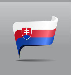 slovak flag map pointer layout vector image