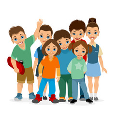 smiling children of different ages vector image